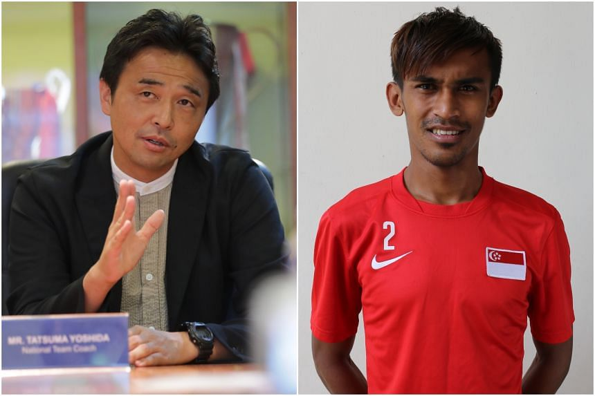 Coach Tatsuma Yoshida (left) said he will focus his attention on adapting my plans for opponents without Shakir Hamzah.