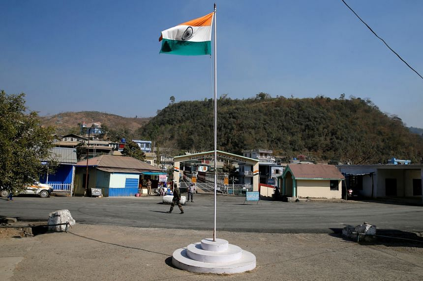 The India-Myanmar border in India's north-eastern state of Mizoram.