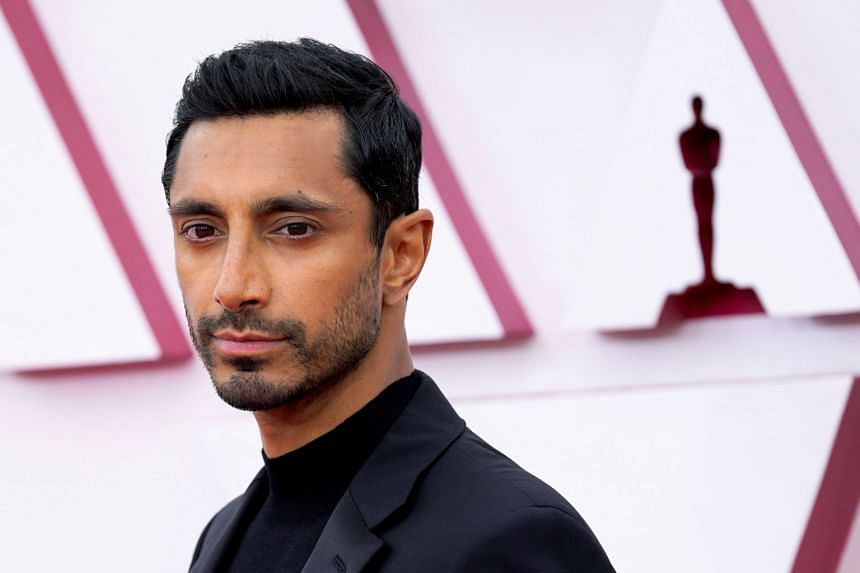 Sound Of Metal star Riz Ahmed arrives on the Oscars red carpet for the 93rd Academy Awards in Los Angeles, in April 2021.