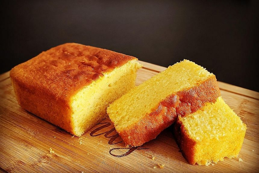 Amateur baker Pang Joo Soon has a few items in his repertoire - including lemon drizzle, banana cake, burnt cheesecake and brownie - but the butter cake ($28 a loaf, above) remains my favourite.