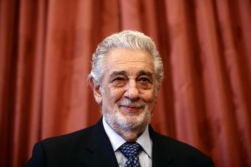 """Singer Placido Domingo after receiving the """"Honorary World Heritage Ambassador of Spain"""" award at Teatro Real in Madrid on June 10, 2021."""