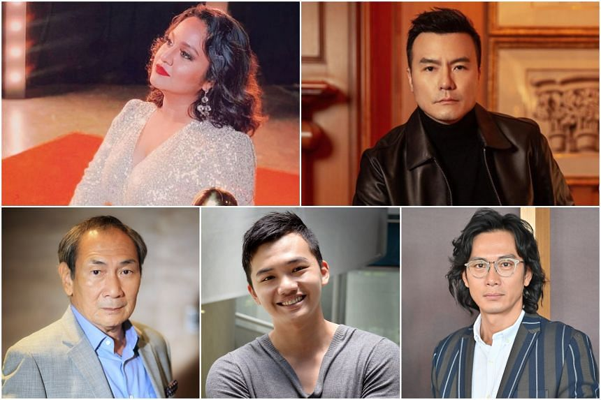 (Clockwise from top left) Singaporean actress Udaya Soundari is in the running for best performance by an actress, while actors Frederick Lee, Qi Yuwu, Imam Shah and Lim Kay Tong are in the running for best actor.