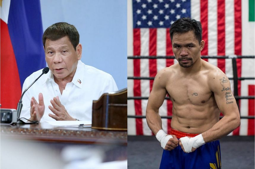 """Philippine President Rodrigo Duterte called Senator Manny Pacquiao's foreign policy knowledge """"shallow"""" after the senator said he found Mr Duterte's stand on the South China Sea """"lacking""""."""
