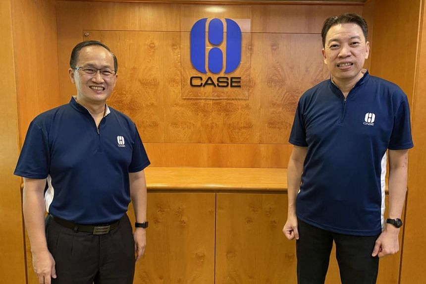 Mr Lim Biow Chuan (left) will hand over the reins as Case president to Mr Melvin Yong.