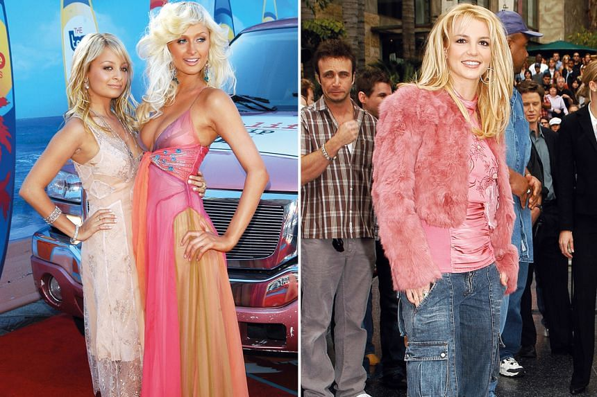 Left: Socialites Nicole Richie (left) and Paris Hilton were among Hollywood's style influencers of the 2000s. Right: Pop star Britney Spears was part of a crop of Hollywood starlets so infamous they were known just by their first names.