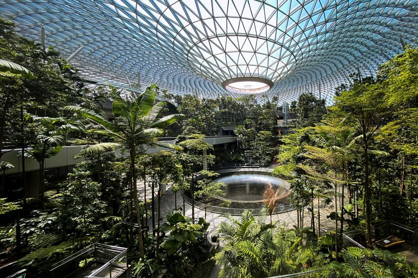Jewel Changi Airport was closed along with the airport terminals on May 13, 2021.