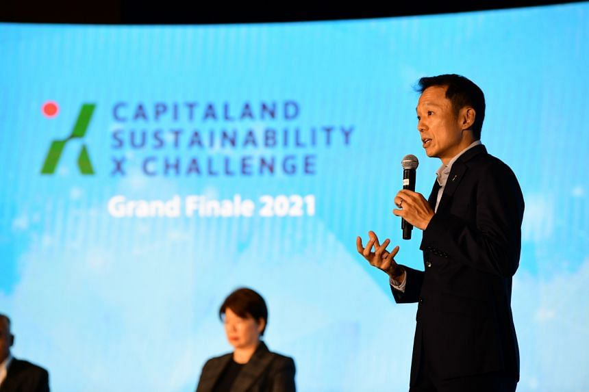CapitaLand group chief executive officer Lee Chee Koon at the Capitaland Sustainability Challenge on June 11, 2021.