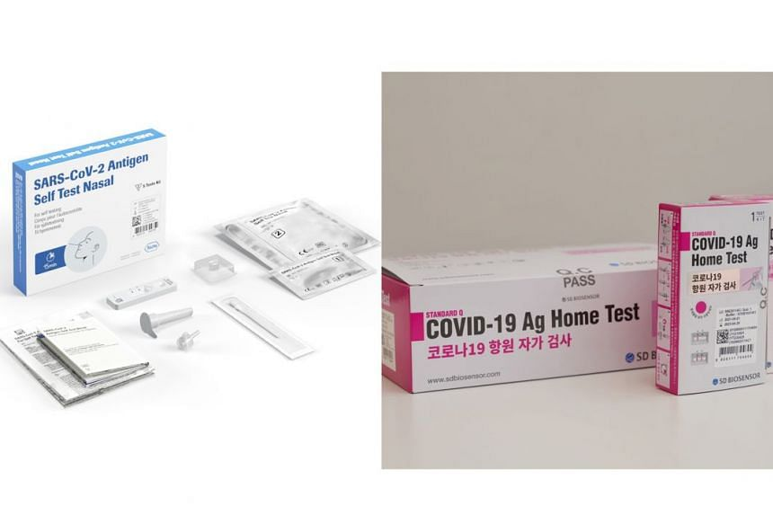 The other two test kits granted interim authorisation by the Health Sciences Authority for sale to the public are from SD Biosensor. The antigen rapid test kits produce results in less than 20 minutes, are simple to use and can be self-administered,