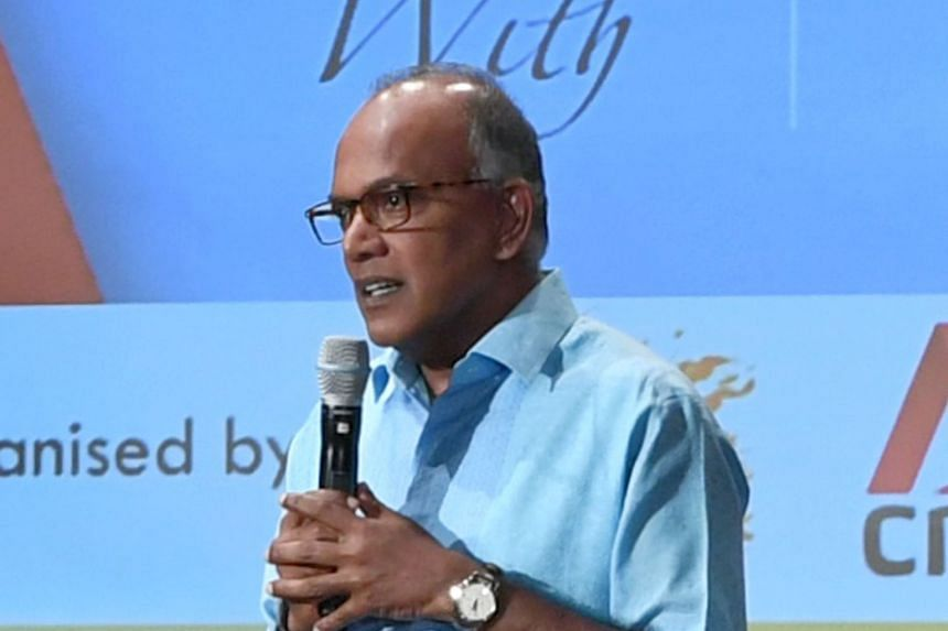 Home Affairs and Law Minister K. Shanmugam, seen here in a 2019 photo, noted that Singapore's leaders have always recognised the existence of racism here, and stressed that the key is in mitigating it.
