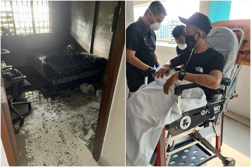 Mr Muhammad Nasiruddin Md Khalid was taken to hospital after the incident.
