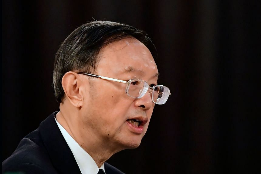 Mr Yang Jiechi (pictured) spoke to US Secretary of State Antony Blinken in a phone call on June 11, 2021.