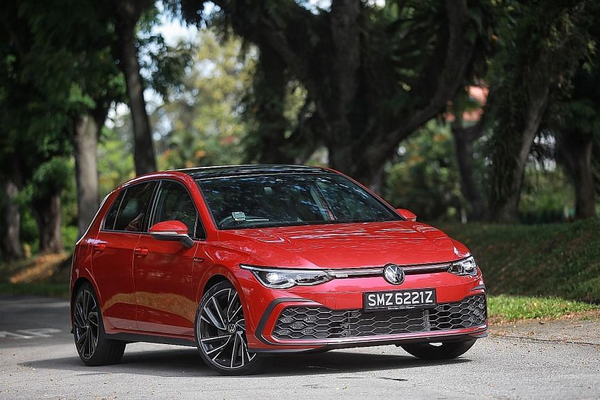 The Volkswagen Golf GTI comes with honeycomb front-air intakes, LED foglamps and larger brakes.