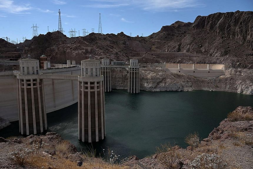 Water levels at the Hoover Dam reservoir near Las Vegas in the western US state of Nevada have sunk to their lowest ever amid extreme drought across the region. The reservoir is crucial to the water supply of 25 million people.