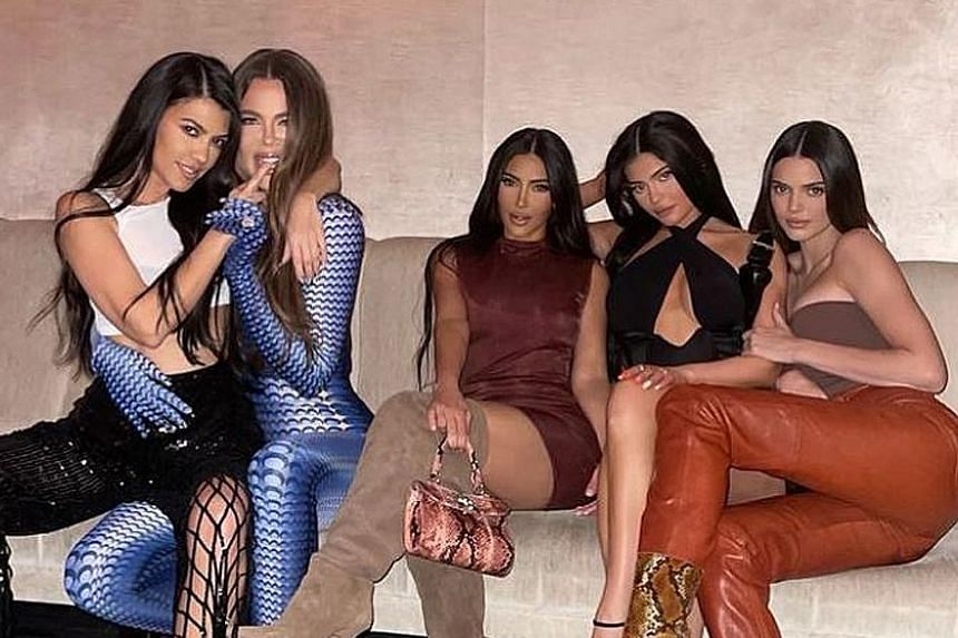 (From left) Kourtney, Khloe and Kim Kardashian with half-sisters Kylie and Kendall Jenner. Keeping Up With The Kardashians made the siblings household names after its debut in 2007.