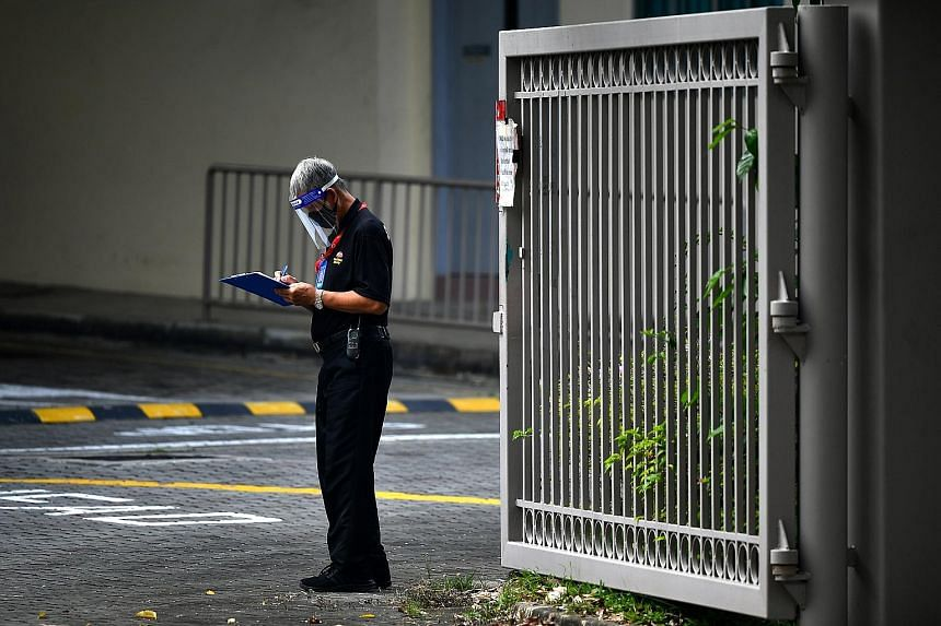 LANDSCAPE MAINTENANCE Mr Lim Goh Heng, 72, at work at The Orchard Residences on May 19. He now earns just over $2,000 a month - an increase which he attributes to the Progressive Wage Model. SECURITY INDUSTRY Competition is stiff in this sector. In s