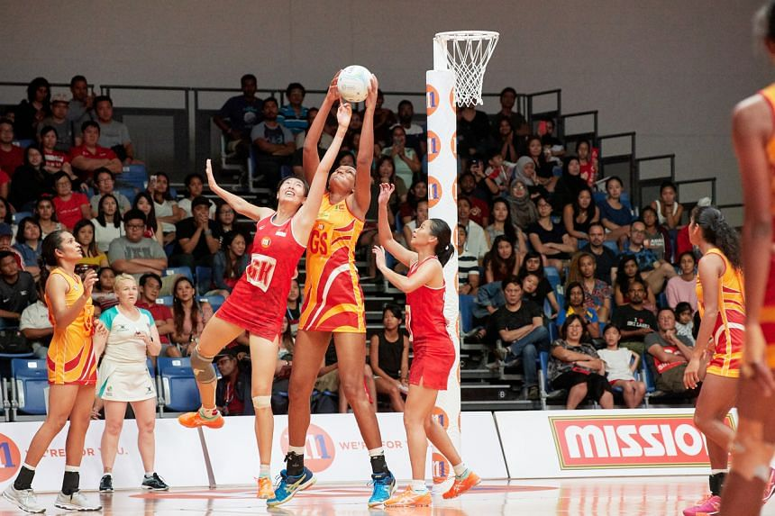 In this photo from 2018, Singapore is playing against Sri Lanka at the 2018 M1 Asian Netball Championships Final.
