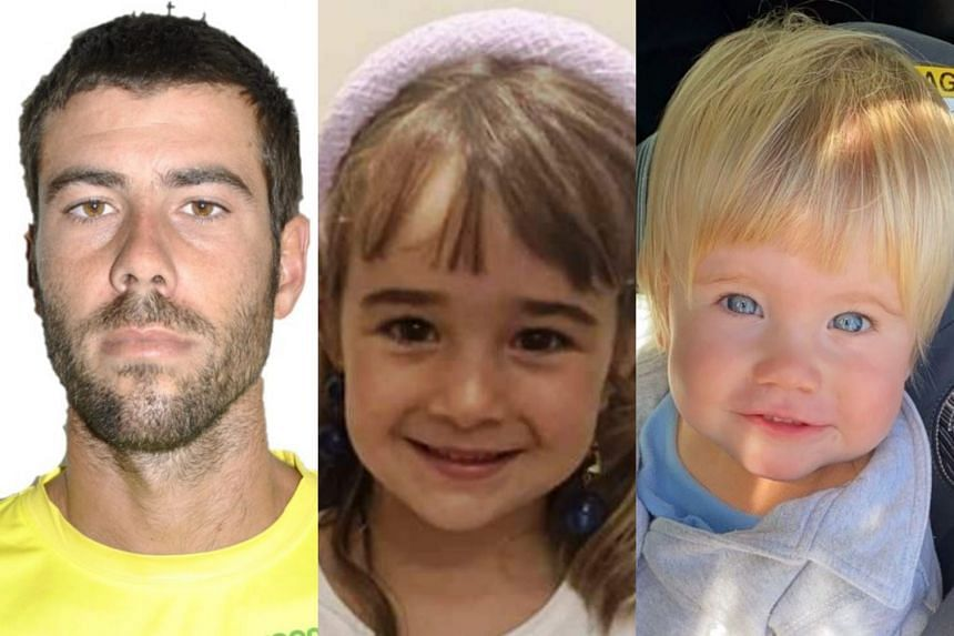 The girls' father, Tomas G (left), is the main suspect in the disappearance of Olivia (centre), six, and Anna, one.