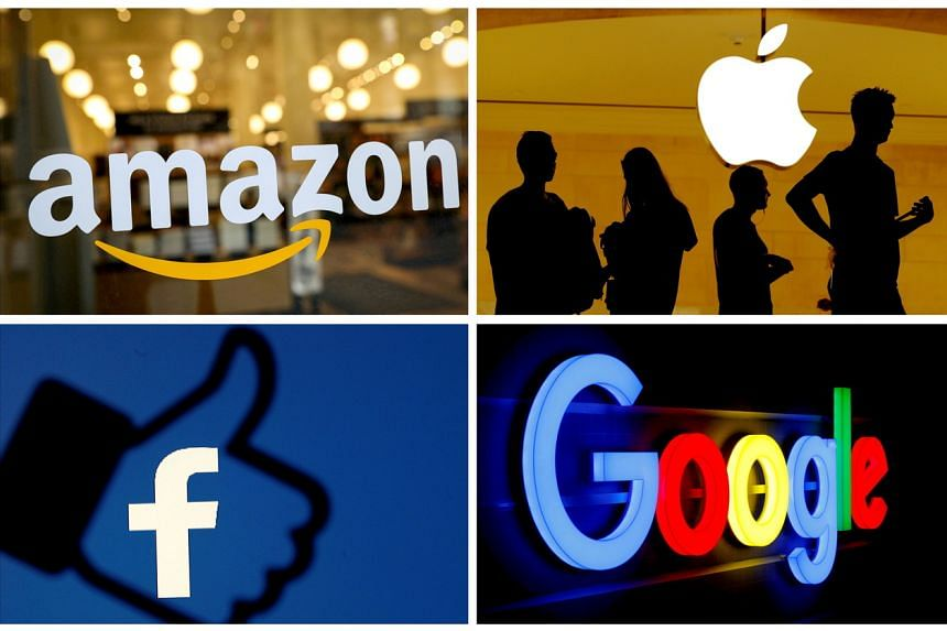 The bills take direct aim at Amazon, Apple, Facebook and Google and their grip on online commerce, information and entertainment.