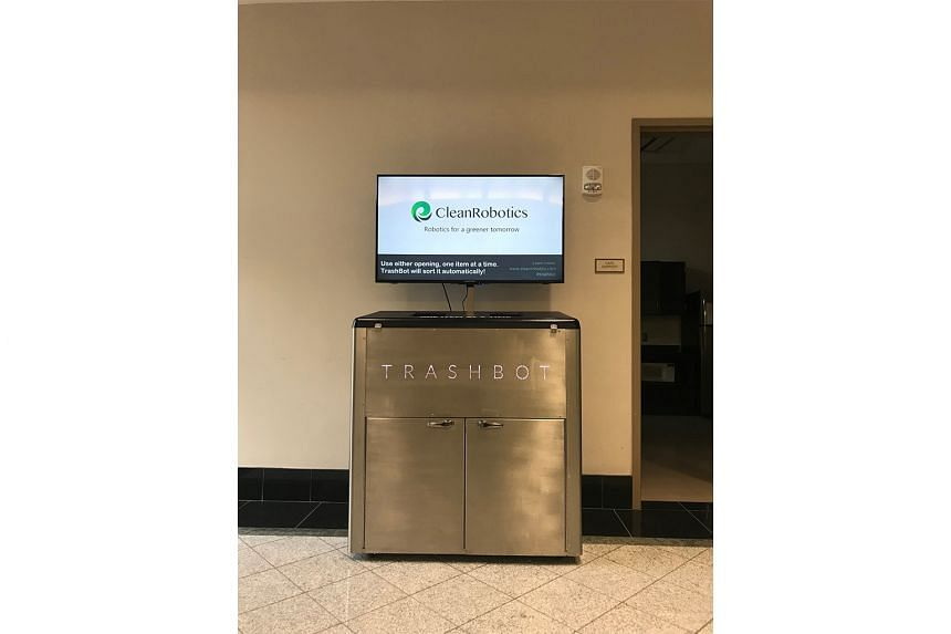 US start-up CleanRobotics' TrashBot is a smart bin that uses artificial intelligence to sort waste.