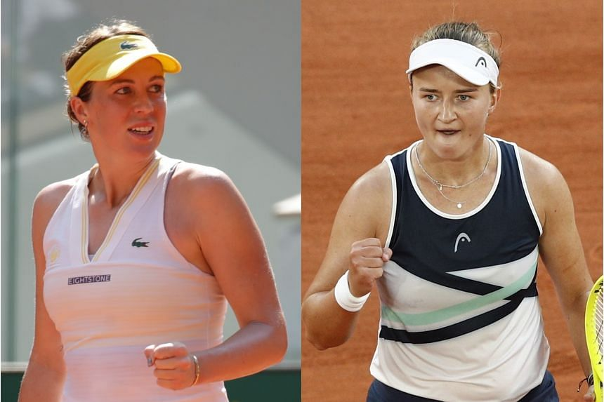 Anastasia Pavlyuchenkova (left) is in her first Grand Slam final on her 52nd attempt. Barbora Krejcikova (right) is known as a doubles specialist but is now on an 11-match winning streak as a singles players.