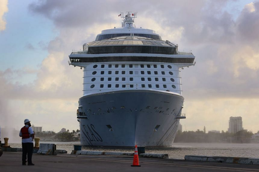 Royal Caribbean's Odyssey of The Seas arrives at Port Everglades on June 10, 2021, in Fort Lauderdale, Florida.