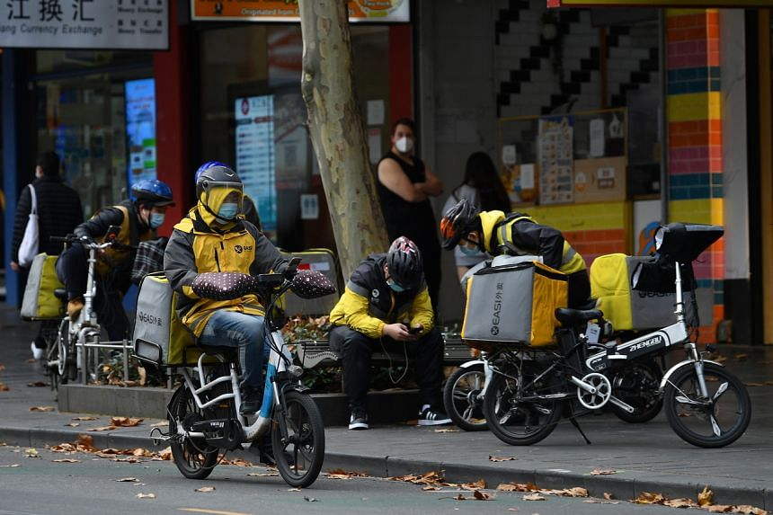 Many of the delivery riders are international students or migrants, less experienced with local driving rules and conditions.