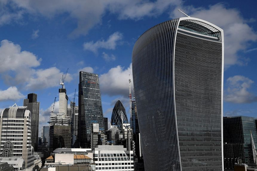 The City of London, with office skyscrapers commonly known as Cheesegrater, Gherkin and Walkie Talkie.