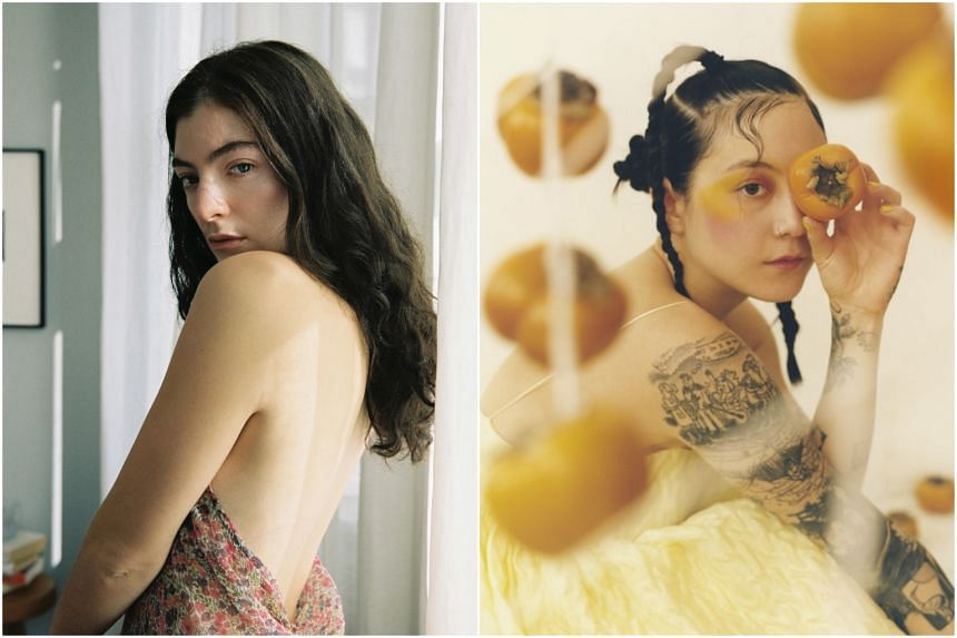 New Zealand singer-songwriter Lorde (left) and Japanese Breakfast, an indie rock band headed by Korean-American Michelle Zauner.
