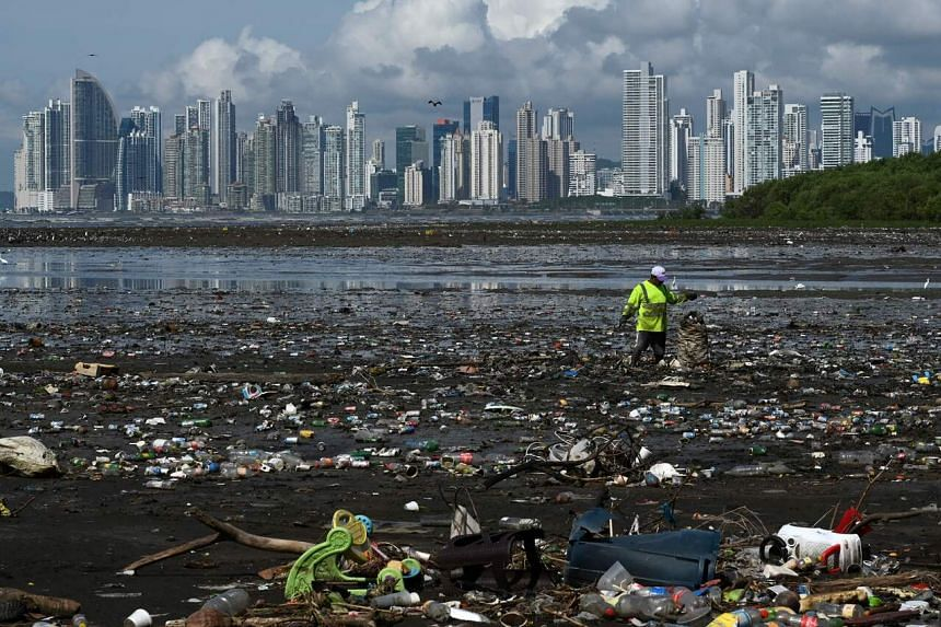 An estimated 11 million tons of plastic waste enters the seas and oceans every year.