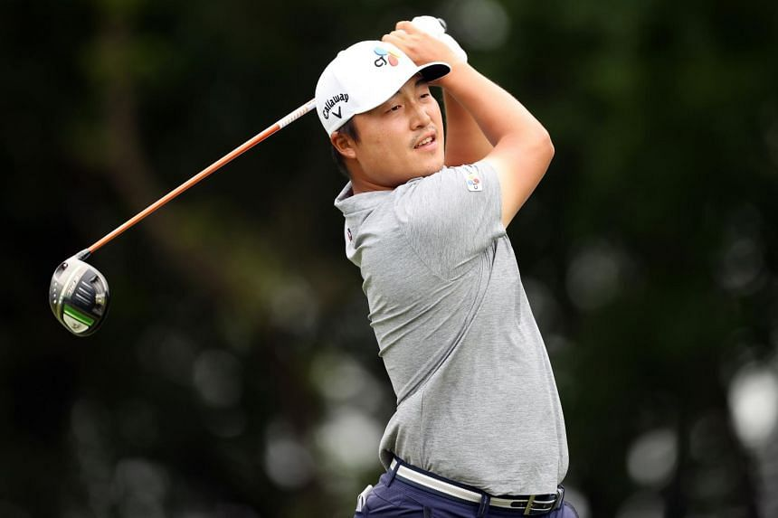 Lee Kyoung-hoon during the final round of the AT&T Byron Nelson at TPC Craig Ranch in McKinney, Texas, on May 16, 2021.