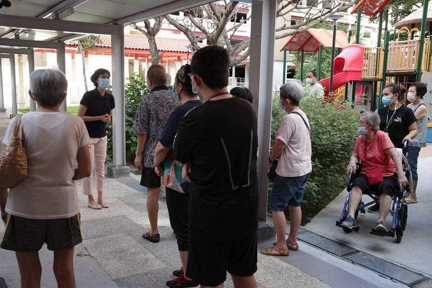 Tanjong Pagar GRC MP Joan Pereira at the swab test site at Block 125A Bukit Merah View on June 14, 2021.