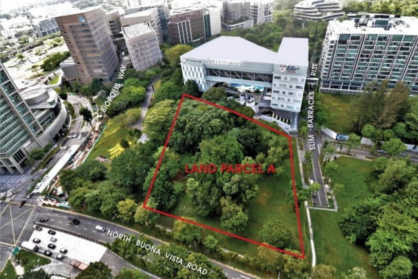 The two land parcels with a lease period of 99 years can potentially yield 405 residential units.