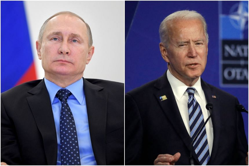 Russian President Vladimir Putin (left) and his US counterpart Joe Biden will meet for the first time since the latter became president.