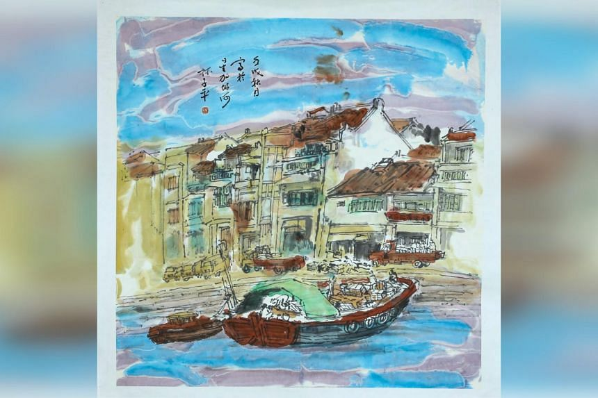 Artworks by Lim Tze Peng that will go on display at the exhibition Soul Of Ink: Lim Tze Peng at 100.