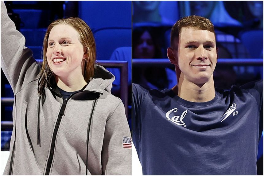 Lilly King (left) and Ryan Murphy are headed to Tokyo to defend their Olympic titles.