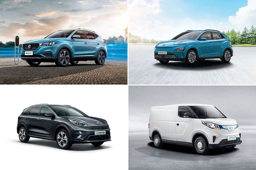 Drivers keen on zero-emissions motoring can now choose from a wide range of electric vehicle options at attractive price points. These include (clockwise from top left) the MG ZS EV, Hyundai Kona, Maxus E Deliver 3 and Kia Niro.