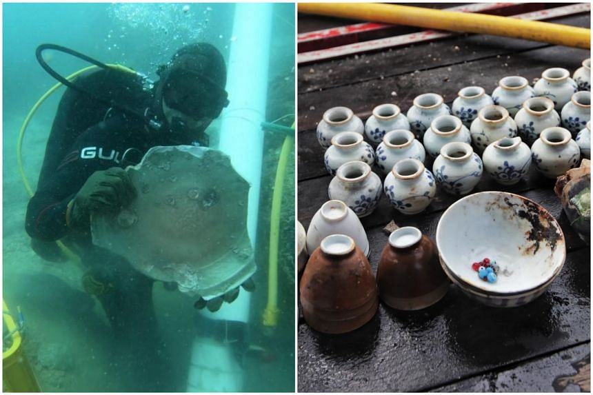 Both wrecks, bearing Chinese ceramics as their primary cargo, were found in the waters off Pedra Branca.