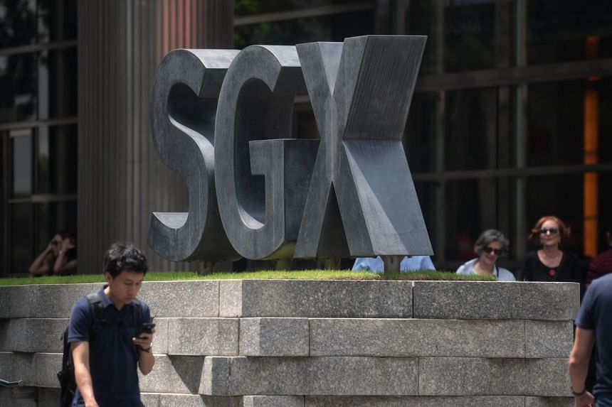 The wary mood left the benchmark Straits Times Index down 1.1 per cent or 35.3 points.