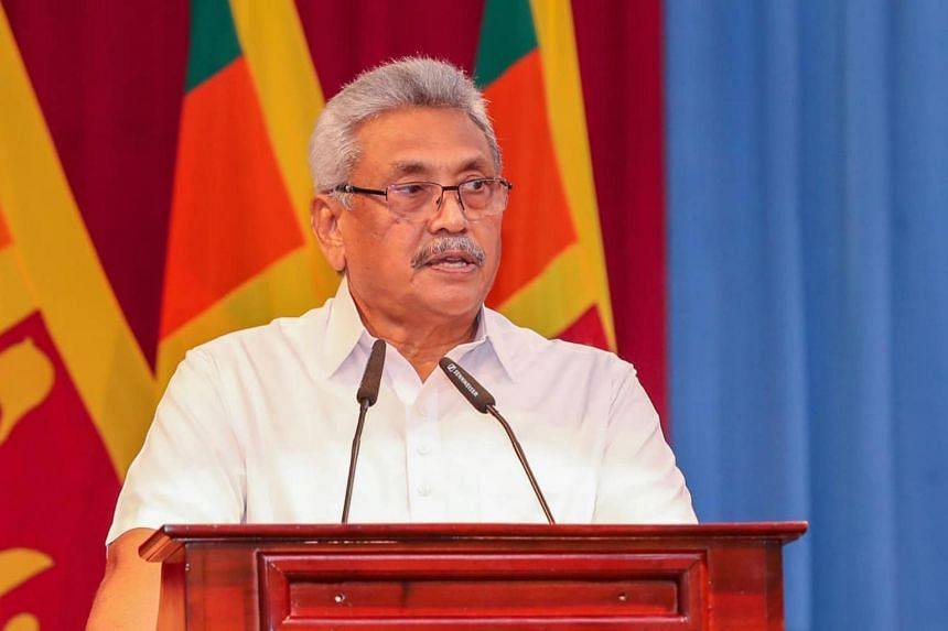 Shani Abeysekara was dismissed from his post and arrested soon after Mr Gotabaya Rajapaksa (above) won the presidency of Sri Lanka in 2019.