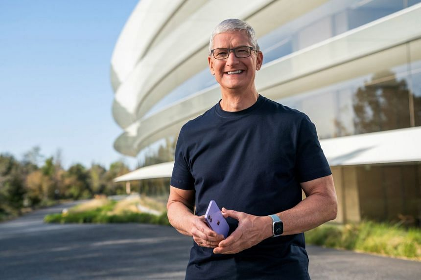 Tim Cook (above) gave his first public comments on the Digital Markets Act proposed by EU antitrust chief Margrethe Vestager.