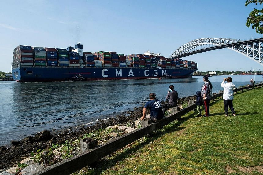 The CMA CGM Marco Polo container ship entering Newark bay last month to dock in Elizabeth port, New Jersey, in the United States. Freight costs are more painful for firms that move clunky, low-value items like toys and furniture. With the end of lock