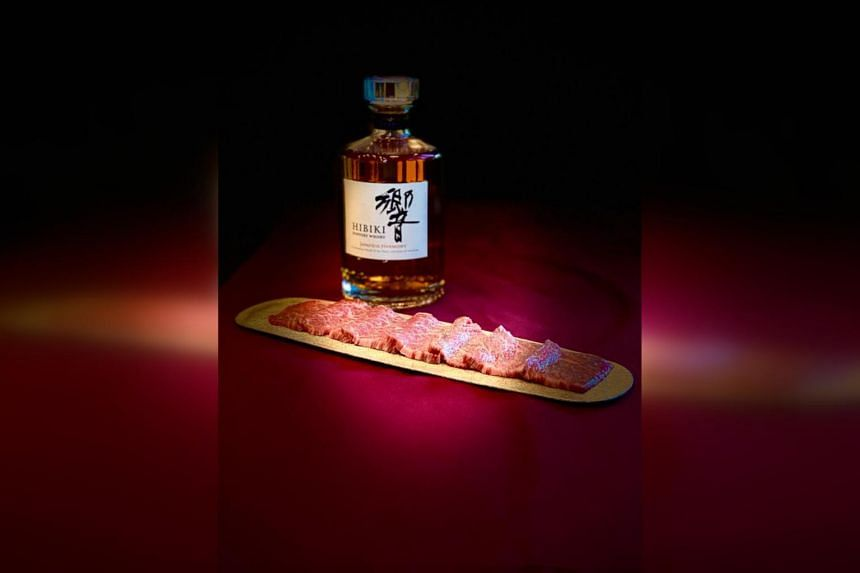 Customers can choose to have the wagyu prepared yakiniku-style at the restaurant-bar or grill the meat at home.
