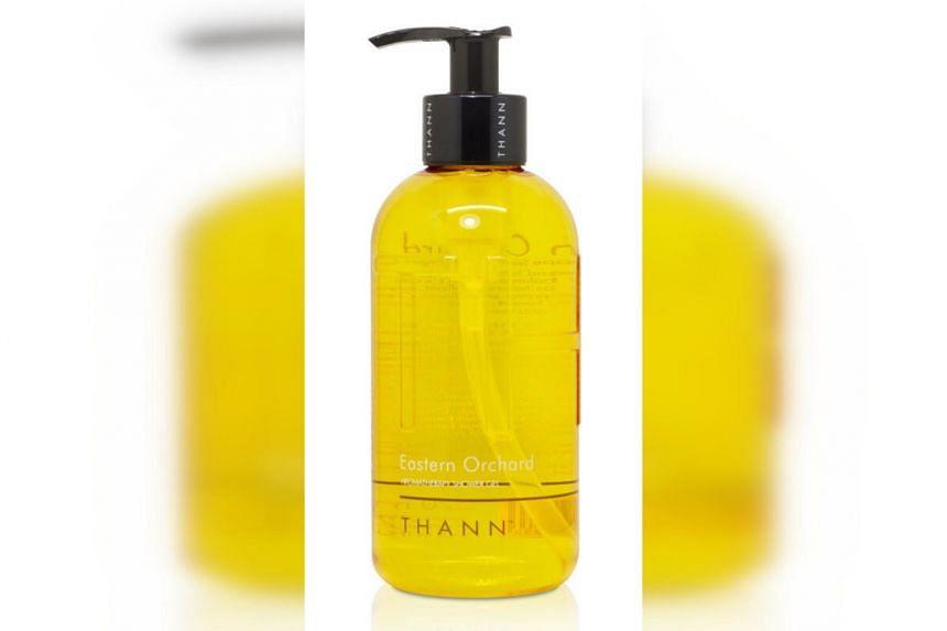 Thann Eastern Orchard Aromatherapy Shower Gel is formulated with organic grape seed, organic argan oils, yuzu and neroli essential oils.