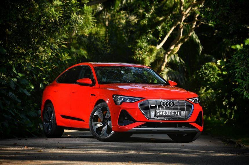 The Audi e-tron Sportback 50 Quattro.