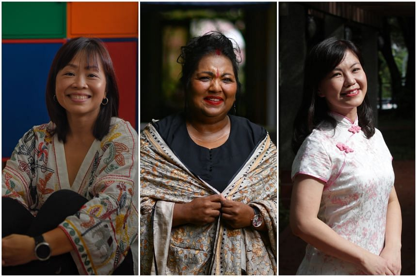 (From left) Ms Barbara Eu, Mrs Indra Iswaran and Ms Candice Yeo are three of the women who are celebrated in the inaugural Singapore: 40-over-40 awards.