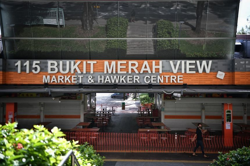The cluster at 115 Bukit Merah View Market and Food Centre is now Singapore's largest open cluster with 70 cases.