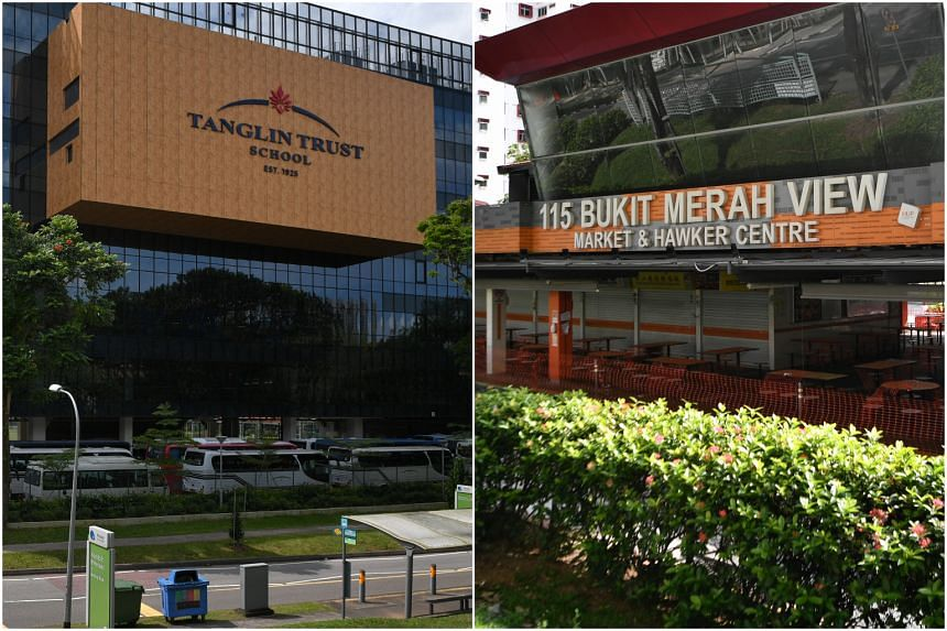 A bus driver for Tanglin Trust School is among nine people added to the Covid-19 cluster at Bukit Merah View Market and Food Centre.