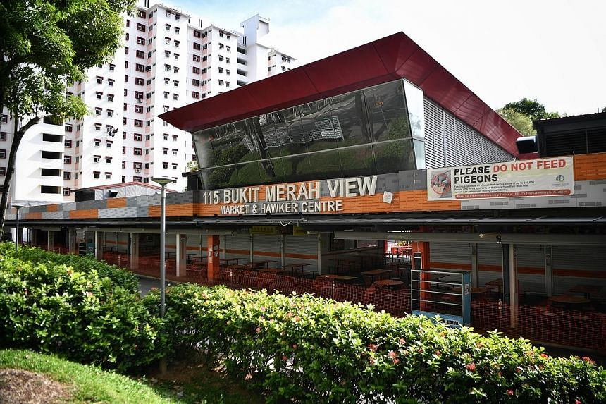 The 115 Bukit Merah View Market and Food Centre cluster is now the largest open one with 65 cases, exceeding that of the Jem and Westgate cluster, which has 63 cases. ST PHOTO: ARIFFIN JAMAR