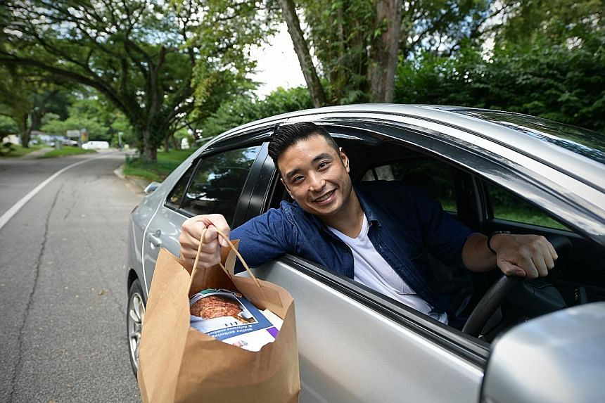 Chef Anthony Yeoh has rented a car to make deliveries, should food delivery drivers not show up.