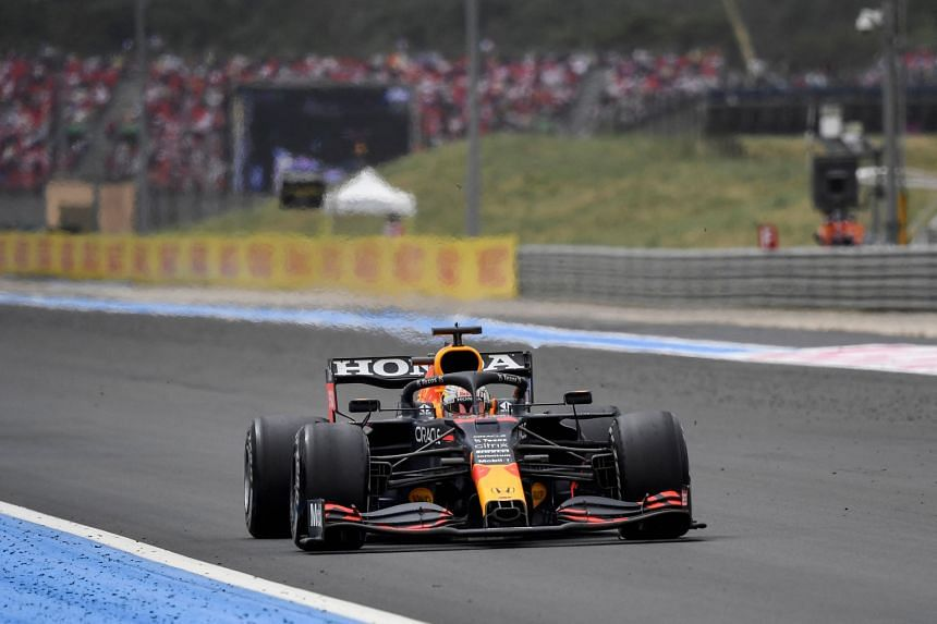 Max Verstappen during the French Formula One Grand Prix at the Circuit Paul-Ricard in Le Castellet, southern France, on June 20, 2021.